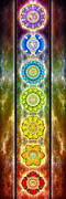 Buddhism Posters - The Seven Chakras Series 2012 Poster by Dirk Czarnota