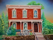 Civil Pastels Framed Prints - The Sherman House  Framed Print by Darren McGrath
