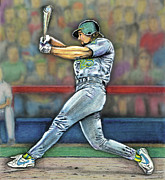 Baseball Digital Art Originals - The Slugger by Todd L Thomas
