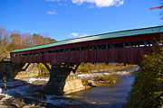 Taftsville Metal Prints - The Taftsville Covered Bridge. Metal Print by Stan Amster