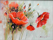 Field Of Real Posters - The Talk of the Poppies Poster by Petrica Sincu