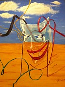 Surrealistic Paintings - The Transparent Mask by Safa Al-Rubaye