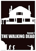 The Walking Dead Prints - The Walking Dead season 2 poster. Print by Cameron Gillum