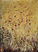 Poppies Field Paintings - The Wheat Field by Ian Vincent Wooler