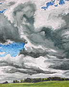 Francois Fournier Paintings - The Wind in the Clouds  by Francois Fournier
