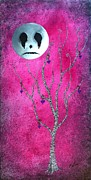Man In The Moon Paintings - The Zebra Effect 3 by Oddball Art Co by Lizzy Love