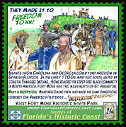 St. Augustine Mixed Media Posters - They Made it to Freedom Town Poster by Warren Clark