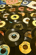Jukebox Prints - Those old 45s Print by Paul Ward