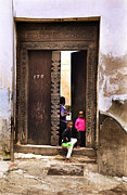 Small Towns Originals - Three African kids Stonetown Zanzibar by Amyn Nasser