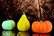 Three Small Pumpkins  Print by Tommy Hammarsten