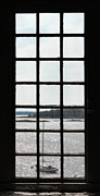 Inside Metal Prints - Through an Old Window Metal Print by Olivier Le Queinec