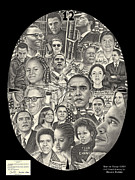 Barack Obama Drawings Metal Prints - Time For Change Metal Print by Omoro Rahim