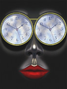 Surreal Art Digital Art Framed Prints - Time In Your Eyes Framed Print by Mike McGlothlen