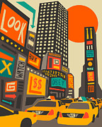 Cities Digital Art - Time Square by Jazzberry Blue