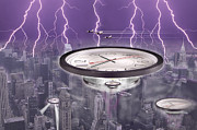 Lightning Digital Art Posters - Time Travelers Poster by Mike McGlothlen