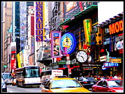 Human Interest Prints - Times Square New York Print by Dora Sofia Caputo