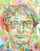 Timothy Posters - TIMOTHY LEARY / watercolor portrait Poster by Fabrizio Cassetta
