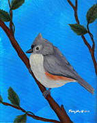 Titmouse Paintings - Tiny Titmouse by Susan Plenzick