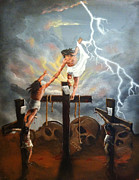 Christian Art Painting Originals - Today by Ricardo Colon