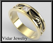 Roi Avidar - 2 Tone Men Wedding Ring...