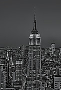 Empire State Photos - Top of the Rock BW by Susan Candelario