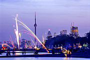 Spectacular Prints - Toronto fireworks Print by Elena Elisseeva