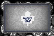 Puck Framed Prints - Toronto Maple Leafs Framed Print by Joe Hamilton