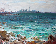 Toronto Painting Originals - Toronto Skyline by Ylli Haruni