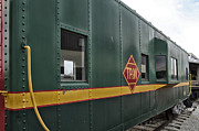 Brakeman Photos - TPW RR Caboose Side View by Thomas Woolworth