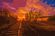 Brian Stevens - Train Track Sunrise