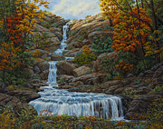 Fall Colors Autumn Colors Posters - Tranquil Cove Poster by Crista Forest
