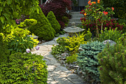 Walkway Metal Prints - Tranquil garden  Metal Print by Elena Elisseeva