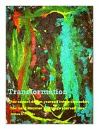 Transformation Mixed Media Prints - Transformation Print by Luz Elena Aponte