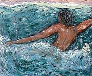 Struggle Paintings - Tread Water by Yulonda Rios