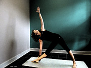 Yoga Images Prints - Triangle Pose Print by Sally Simon