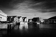 Havn Prints - Tromso bryggen wharf old buildings harbour troms Norway europe Print by Joe Fox
