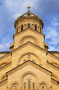 Tsminda Sameba Cathedral Photo Metal Prints - Tsminda Sameba Cathedral Tbilisi Metal Print by Robert Preston