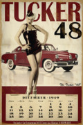 Vintage Pinup Posters - Tucker 48 Poster by Cinema Photography