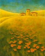 Red Farmhouse Prints - Tuscan Gold 2 Print by Pamela Allegretto