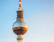 Alexanderplatz Framed Prints - Tv tower or Fersehturm in Berlin Framed Print by Michal Bednarek