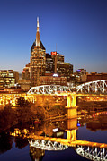 Twilight Over Nashville Tennessee Print by Brian Jannsen