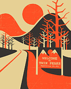 Twin Framed Prints - Twin Peaks Framed Print by Jazzberry Blue