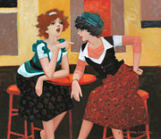 Dresses Prints - Two Lattes Print by Kevin Lawrence Leveque