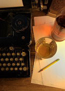 Typewriter Photos - Typewriter and Whiskey by Jill Battaglia