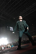 Bono Metal Prints - U2 Metal Print by Jenny Potter