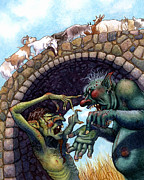 Illustration Art - 2 Ugly Trolls by Isabella Kung