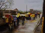 Best Of Show Prints - Umbrellas - Japan Print by Chisho Maas