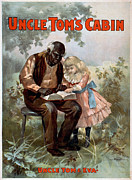 Outdoor Theater Framed Prints - UNCLE TOMS CABIN, c1899 Framed Print by Granger
