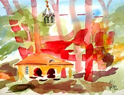 Watercolour Mixed Media Originals - Ursuline Impressions II by Kip DeVore