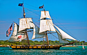 Sailing Vessel Print Metal Prints - US Brig Niagra  Metal Print by Steve Harrington